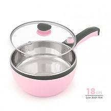 에버튼하우스 전기냄비 18cm(핑크)